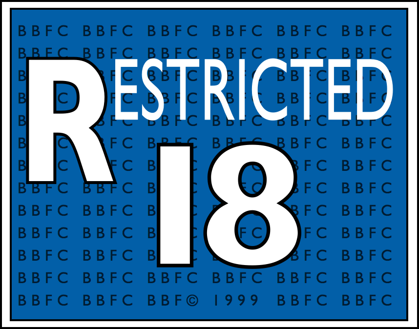 BBFC Restricted to those 18 and older (1989-2002)