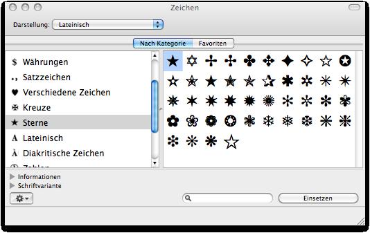 Stern Zeichen Tastatur